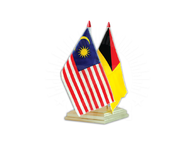 Malaysia Double Table Flag | 桌旗